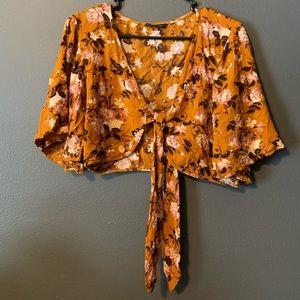 American Eagle Boho Tie Crop Top